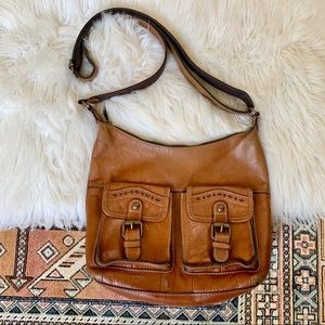Patricia Nash Brown Leather Messenger Bag